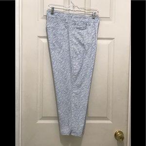 "NYDJ Crop Blue Floral Pants! Stretch 14W Waist 37"""